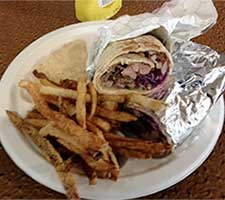 Sandwich with fries at Odeh's in Elko Nevada
