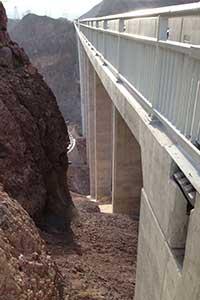 The Hoover Dam Overlook walkway