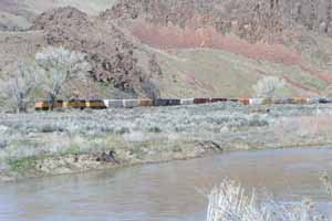The railroad at Palisade Nevada
