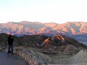 Panamint Mountains at Sunrise, from Zabriskie Point, Death Valley