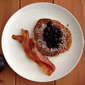 pancakes at Kerouac's, Baker Nevada