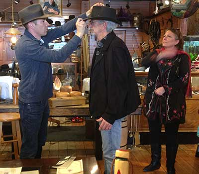 Hatmaker Pascal Baboulin at the Pioneer Emporium, Virginia City Nevada