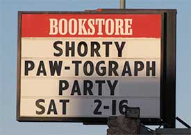 Shorty's Paw-tograph Party