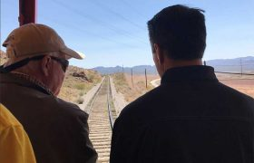 Peter Barton and Gernor Brian Sandoval at dedication of the new NSRy bridge to Henderson