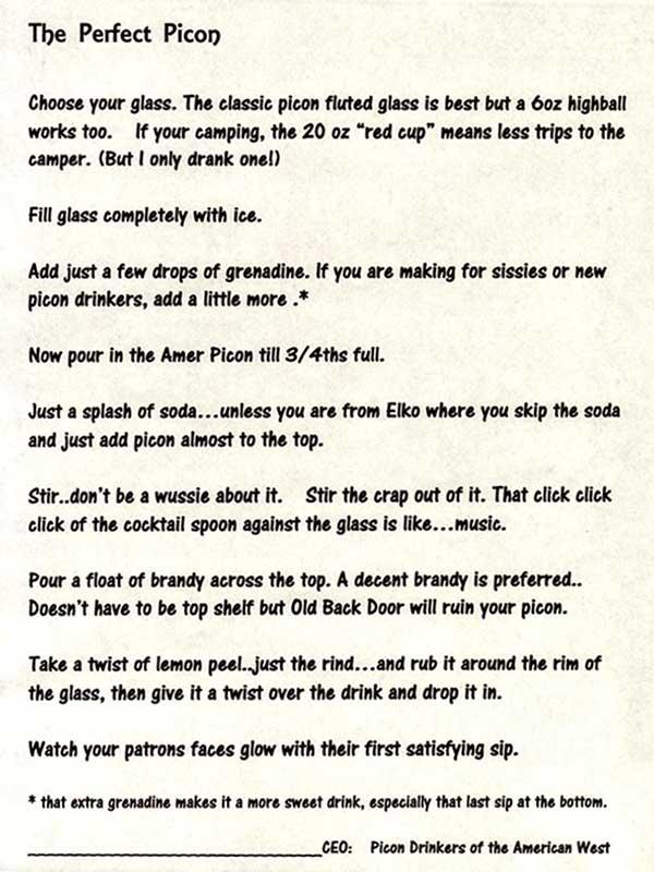 Perfect Picon Punch Recipe