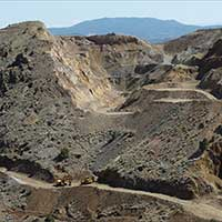 Lucerne pit, Gold Hill Nevada