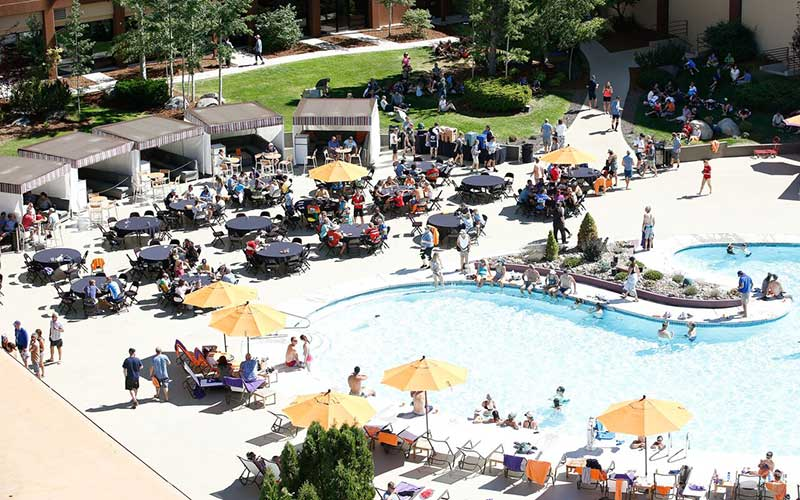 Hard Rock Hotel pool party for Tour de Tahoe participants