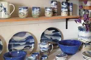 pottery by John Bogard, Planet X Nevada