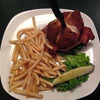 Bacon cheeseburger at Rack's, Ely Nevada