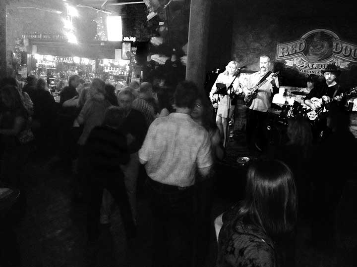 Lady & The Tramps at the Red Dog Saloon, Virginia City Nevada