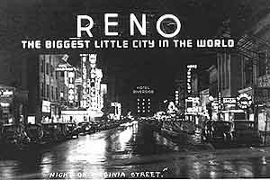 The Reno Arch, a historic view