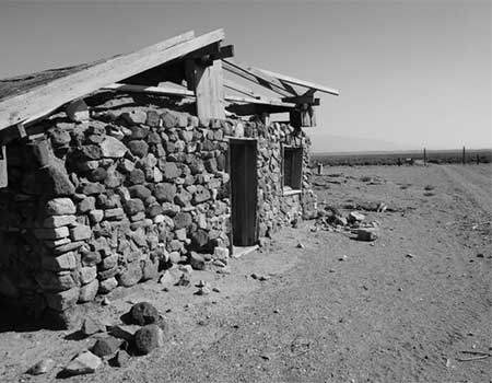 Stone house in the Nevada desert