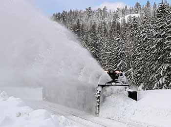 Rotary snowplow, photo by John Gaffney