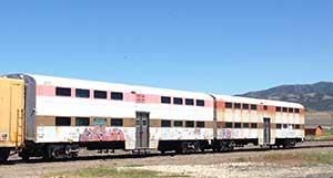 Railroad cars in Battle Mountain Nevada