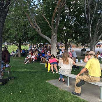 Neighbors, friends and family at the Sliver City Park