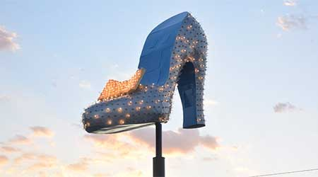 The Silver Slipper at the Neon Museum, Las Vegas Nevada