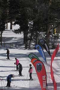 Skiers at Heavenly Valley, Lake Tahoe