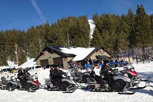 Zephyr Cove Lodge snowmobiles, Lake Tahoe Nevada