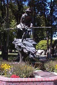 Snowshoe Thompson sculpture, Genoa Nevada