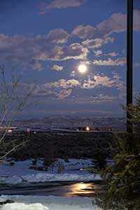 The Elko moonlight hike, with bonfire