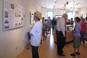Historic exhibits inside the Hall are attractive and informative.