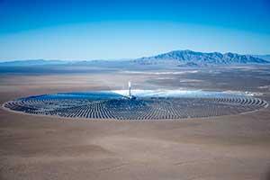 Solar array at Crescent Dunes, Tonopah Nevada