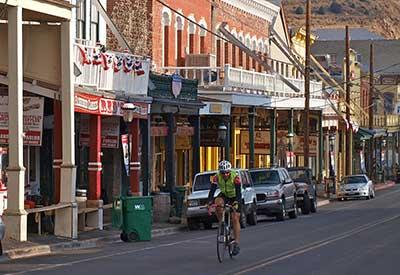 Silver State 508 rider in Virginia City Nevada