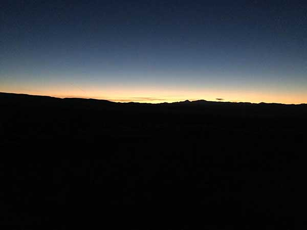 Sunrise east of Austin Nevada
