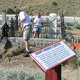 """Tourism Cares"" cleans up the Virginia City cemeteries"