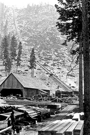 The great Incline, north shore Lake Tahoe about 1880
