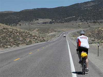 US 50 is Nevada's official Bicycle Route