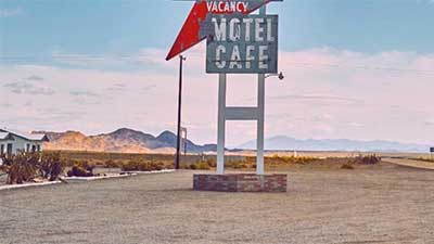 Vacancy,Motel, Cafe