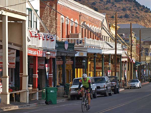 Competitor in Silver State 508 rides through Virginia City