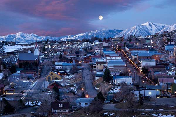 Nevadagram 197 Virginia City At Christmastime Nevadagram From