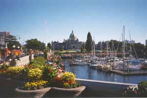 Victoria BC harbor.
