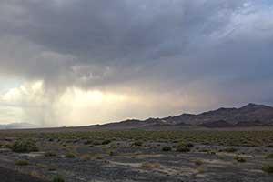 Virga near US 95 in Nevada