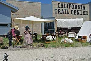 Emigrant Camp, California Trail Interpretive Center, Elko