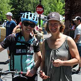 Bridget Webster and Paige Galeoto at the 3rd Annual Carson City Off Road – Epic Rides Mountain Bike Event