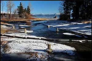 Creek into Lake Tahoe is flowing