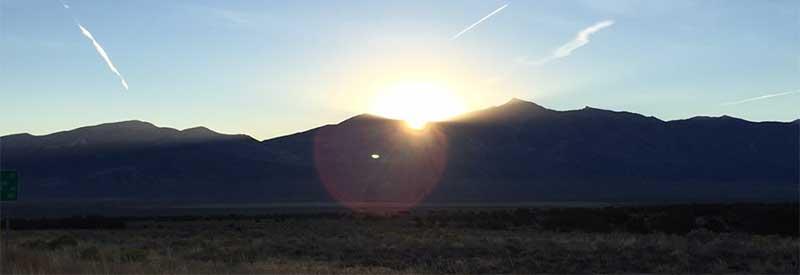 Wheeler Peak at dawn