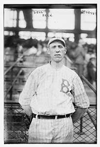 He pitched 3 seasons for the Brooklyn Robins.