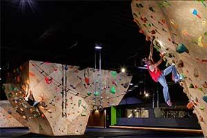 Wall climbers at the Whitney Peak Hotel, RenoNevada