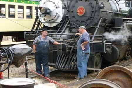 V&T Railroad shops in Virginia City Nevada
