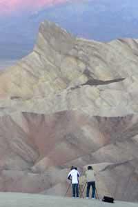 Photographers at Zabriskie Point, Death Valley