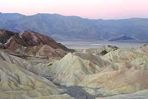 The view from Zabriskie Point at dawn